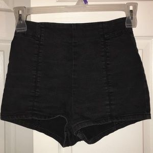 Black Urban Outfitters high waisted shorts